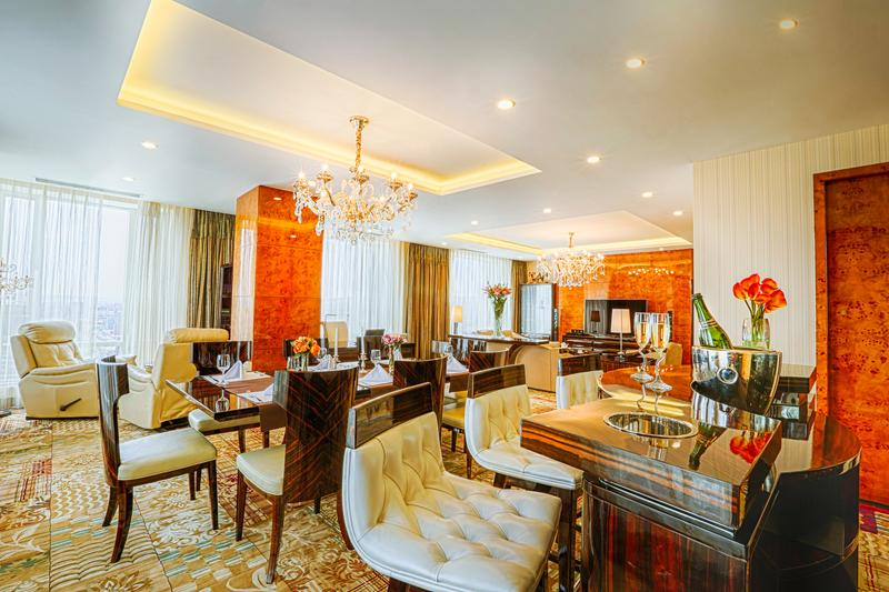 Presidential Suite Dining Table, Bar