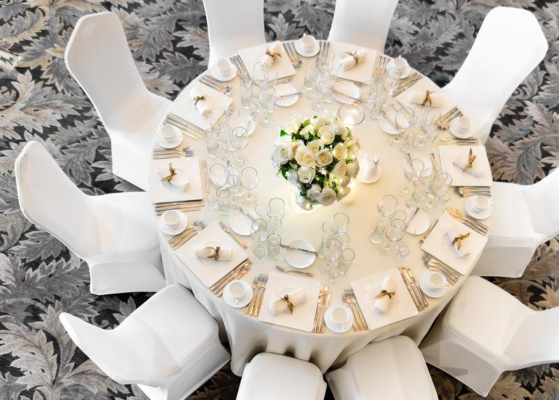Soyombo Hall Wedding Table